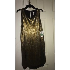 bar lll golden dress